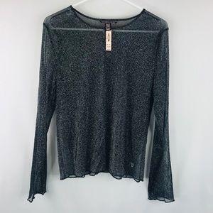 Victoria Secret sheer sparkle shirt SZ:M NWT